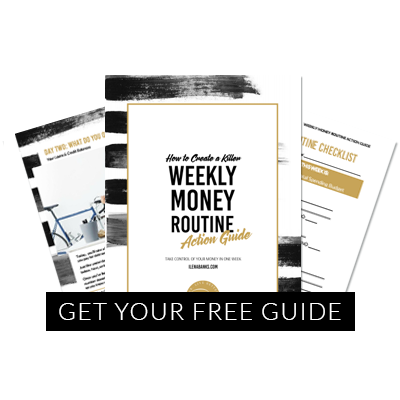Ilena Banks's Weekly Money Routine Action Guide