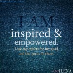 Inspired and Empowered Affirmation Blue | Ilena Banks