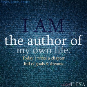 Author of My Life Affirmation Blue | Ilena Banks