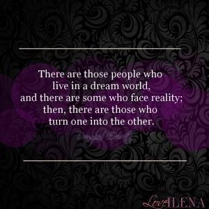 Dreams vs Reality Quote   Ilena Banks