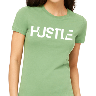 "Super soft green ""The Hustle"" t-shirt by Ilena Banks"